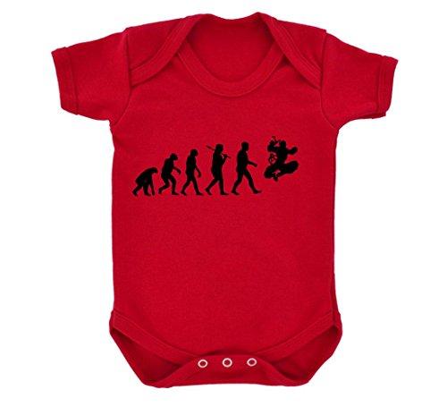 Evolution of a Ninja Baby Bodysuit Red with Black (Red Ninja Mortal Kombat)