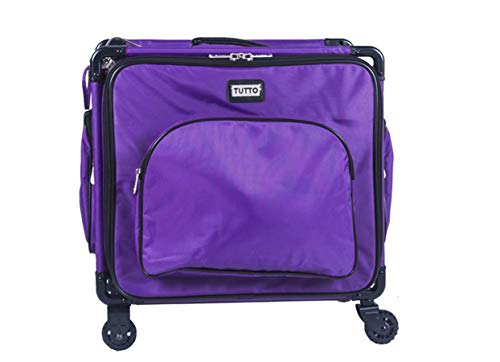 Tutto 17″ Purple Serger Tote On Wheels