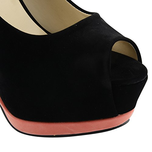 Footwear Sensation - Zapatos de vestir para mujer negro negro negro