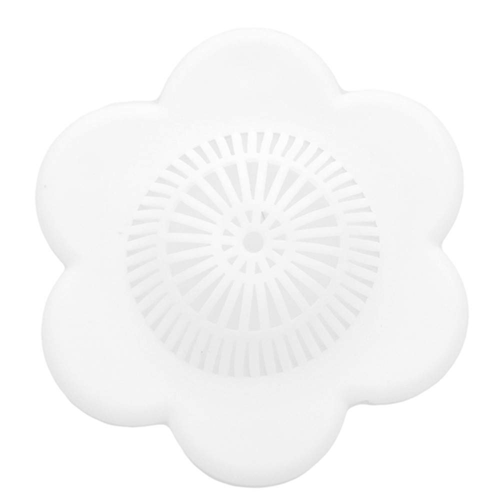 LJSLYJ SIlicone Sink Strainer Kitchen Sink Drain Filter Basket,White