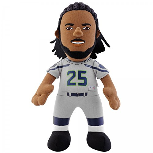 "NFL Seattle Seahawks Richard Sherman Plush Figure, 10"", Silver"
