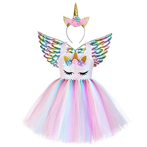 Unicorn Costume Toddler Girls 3t 4t Pageant Princess Sequin Party Tutu Dresses -