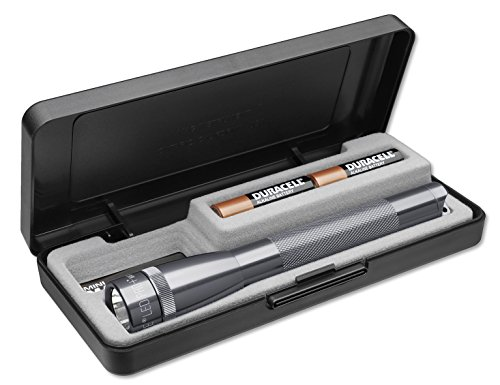 MagLite AA Mini LED Pro+ Flashlight Presentation Box, Gray