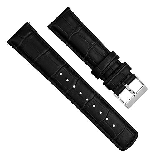 Barton Alligator Grain - Quick Release Leather Watch Bands - Choose Color, Length & Width - 16mm, 18mm, 19mm, 20mm, 21mm, 22mm, 23mm, or 24mm Standard or Long