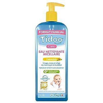 tidoo eau nettoyante micellaire au calendula bio format familial 1 l