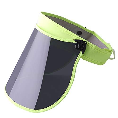 Sun Visor Hat Outdoor Anti Ultraviolet Sun Hat for Women Men and Kids 360°Rotation (Green) -