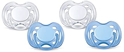 Philips AVENT Freeflow Pacifier BPA, Free Blue / White, 0-6 Months