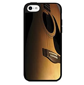 Brown up Close Acoustic Guitar Hard Snap on Case (iPhone 5c)