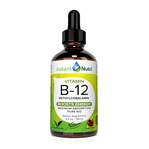 Vitamin B12 Methylcobalamin Sublingual Liquid: 2500mcg Per Serving - Energy Boost and Pernicious Anemia Supplement for Men & Women - Natural, Active B-12 Complex in Aloe Vera Supplements Kids Growth