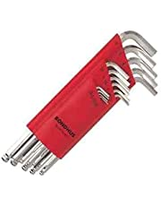 Bondhus 17095 Set of 15 Balldriver L-Wrenches with BriteGuard Finish, Sizes 1.27-10mm
