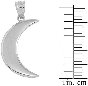 Half Moon Charm Silver Half Circle Moon Charm Pendant Silver Moon Sterling Silver Crescent Moon Charm- 925 Silver Moon Pendant Tusk,170
