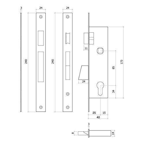 grau 730/x 25/mm Wurstf/üller 73025/Profil-GLK