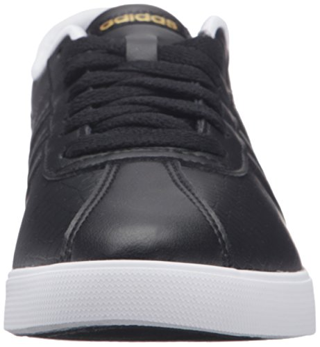 Adidas Neo Courtset W zapatilla de deporte, negro de plata / metálico / azul, 5 M US Black/Black/Matte Gold