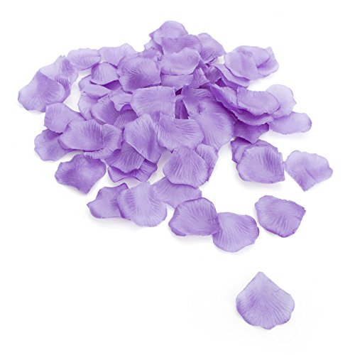 4000 Silk Roses (Aspire 4000 Pieces Silk Rose Petals, Artificial Flower Confetti, Wedding / Party / Gift Decoration-Lavender)