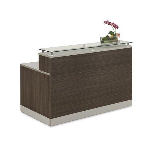 (Esquire Glass Top Reception Desk 63