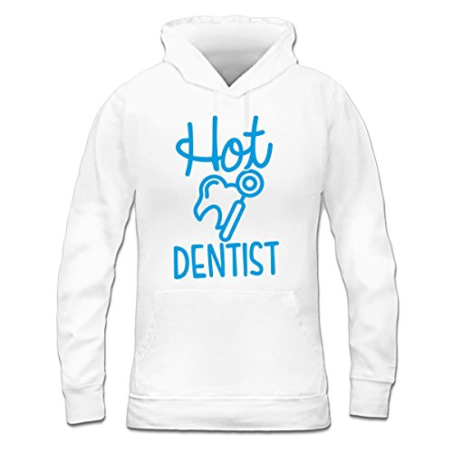 Sudadera con capucha de mujer Hot Dentist by Shirtcity Blanco