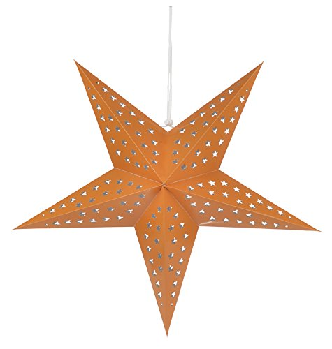 PaperLanternStorecom-24-Solid-Orange-Cut-Out-Paper-Star-Lantern-Hanging-Decoration