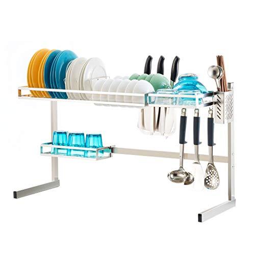 - Stainless Steel Storage Shelf, Sink Draining Rack Dish Rack Kitchen Shelves, Multi-Style Optional (Color : Silver, Design : B)