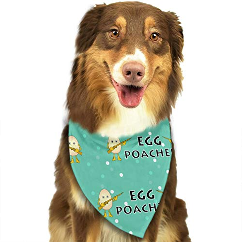 (Charm Trend Egg Poacher Washable Dog Christmas Bandanas Print Triangle Bibs For Pet Dogs And Cats)