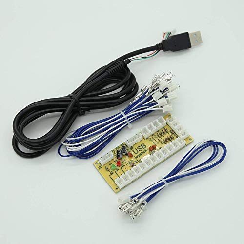 Reyann Zero Delay Arcade USB Encoder Pc to Joystick for Mame Jamma & Other Pc Fighting Games