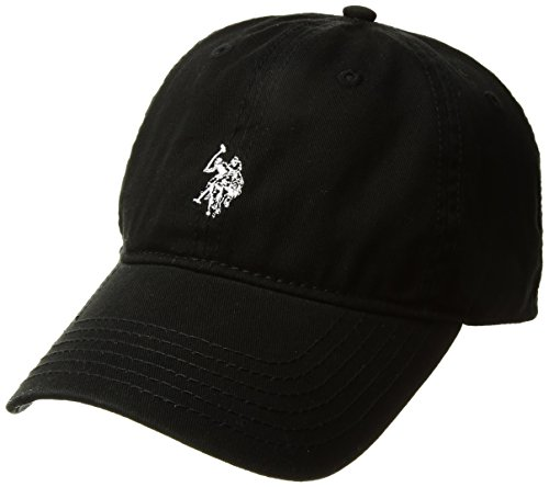 Womens Official Logo Cap (U.S. Polo Assn. Women's Washed Baseball Cap, Curved Brim, Adjustable, Black, One Size)