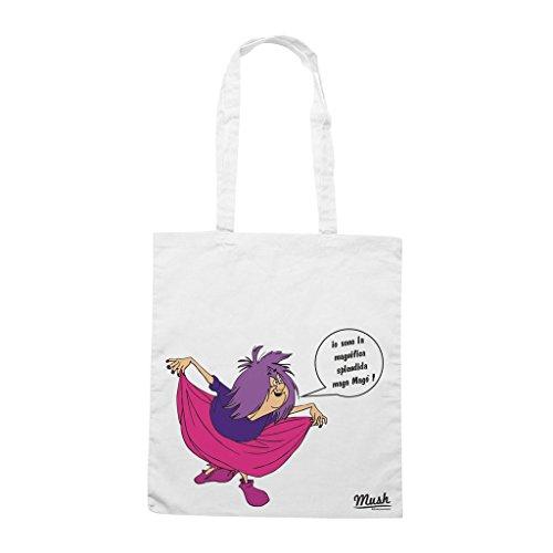 Borsa Maga Mago' - Bianca - Cartoon by Mush Dress Your Style