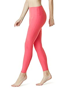 Tesla TM-FYP42-NPK_Large Yoga Pants High-Waist Tummy Control w Hidden Pocket FYP42
