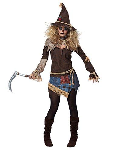 Creepy Scarecrow Womens Costume X-Small (Creepy Womens Halloween Costumes)