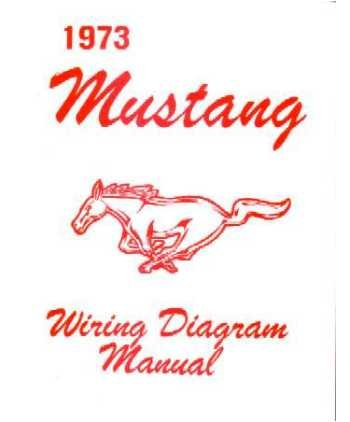 amazon com 1973 ford mustang wiring diagrams schematics 73 Mustang Wiring Diagram