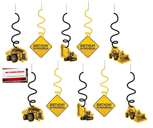 Construction Zone Birthday Whirls Swirls 10