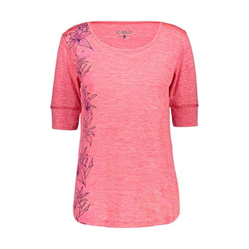 CMP Damen T-Shirt Leichtes Melange-t-Shirt mit Sonnenschutz UPF 40