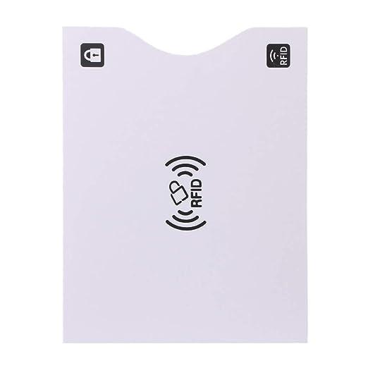 JERKKY RFID Bloqueo de Tarjeta de crédito Pasaporte Cubierta ...