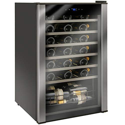48-Bottle Evolution Series Wine Refrigerator Black Stainless Door