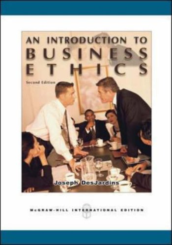 Joseph desjardins business ethics book summary