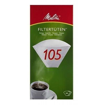 '200x Sacs filtrants pour aspirateurs/Filtre à café Melitta 105(Blanc)