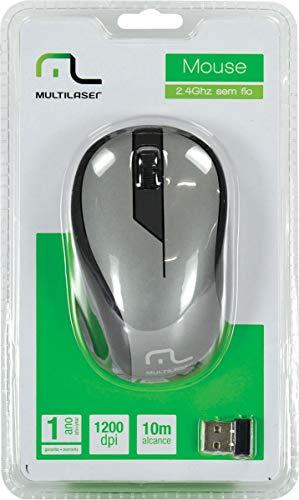 Mouse Multilaser Sem Fio 2.4Ghz Preto Grafite Usb - MO213
