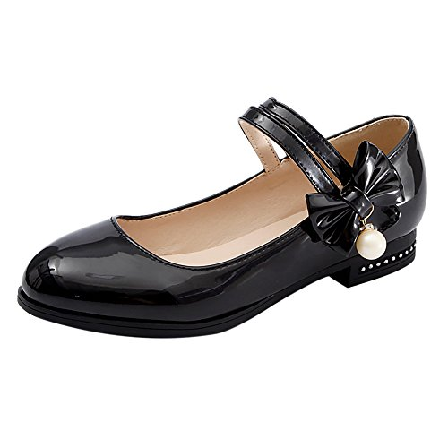 Shoes Mary Jane Black JOJONUNU Fashion Women Pumps qHXw0