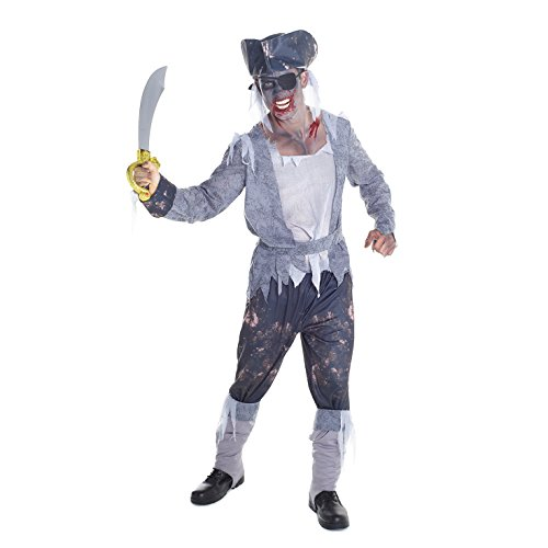Mens Buccaneer Ghost Pirate Costume - 5 Piece Quality Costume