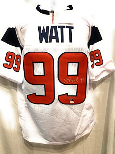 7d7889f12ad JJ Watt Houston Texans Signed Autograph White Custom Jersey WATT Hologram  JSA Witnessed Certified