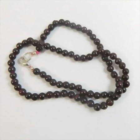 Collar de perlas granates 45 cm piedra semi preciosa colgante piedra curativa gema