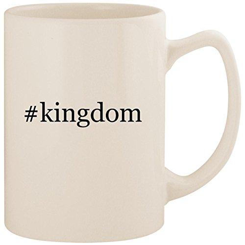 #kingdom - White Hashtag 14oz Ceramic Statesman Coffee Mug Cup]()