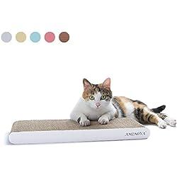 AMZNOVA Durable Cat Scratch Pad, Recyclable, Colors Series, Narrow, Ivory