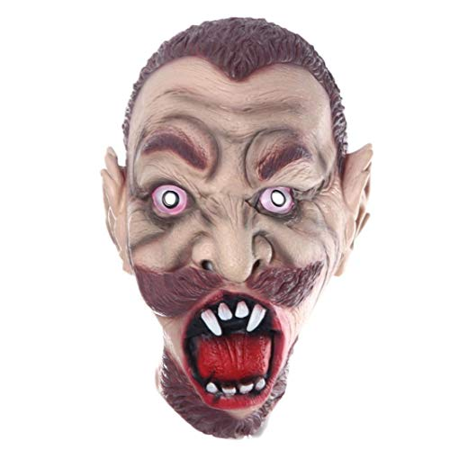 Gbell Halloween Costume Party Horror Death Decayed Bleeding Zombie Head Mask, Latex Cosplay Party Dress up Mask Kids Aults Men Women,1Pcs (C)
