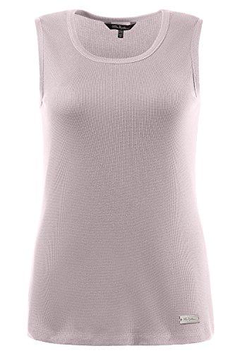 Ulla Popken Damen große Größen | Basic Top | elastisch | Runder Halsausschnitt | bis Größe 62/64 | perllila 46/48 706270 82-46+