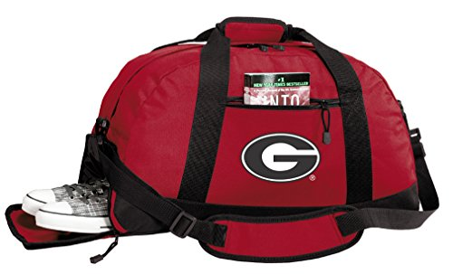 University of Georgia Duffle Bags - Georgia Bulldogs Gym Bag w/Shoe Pockets