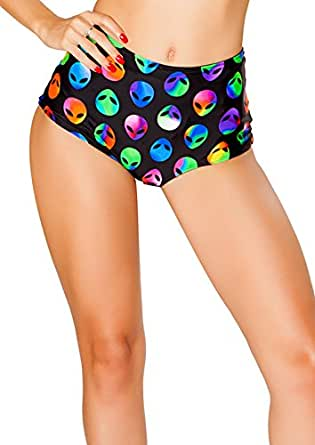 J. Valentine Women's High-Waist Short, Alien, Small/Medium