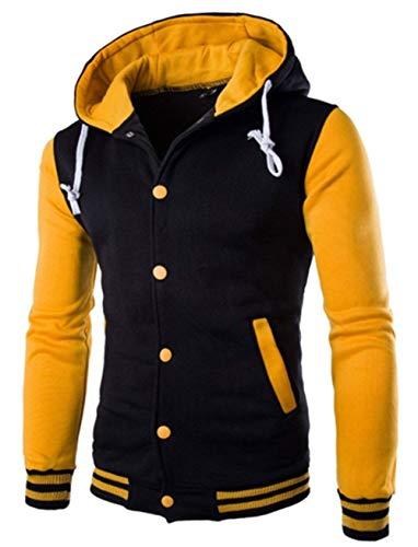 Sleeve Gelb Couleur Casual Tricotée Cashmere Moderne Veste Hiver Haidean Et Long Hoodie Verte qI78PcwE