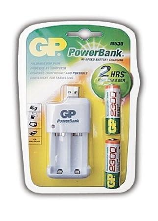 GP Batteries pb530usb230, C2, USB cargador rápido con 2300 ...