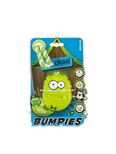 COOCKOO BUMPIES | Stimulating Interactive Treat Dispenser Chew Toy for Dogs (Regular, Apple)