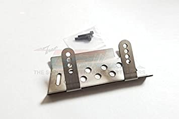GPM Stainless Steel Front Or Rear Chassis Protection Plate For TRX-4 Trail Defender Crawler - 1Pc Set